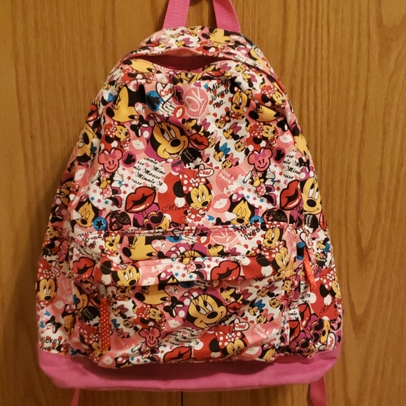 Disney Other - 🆕️🎆Disney Pink Canvas Backpack